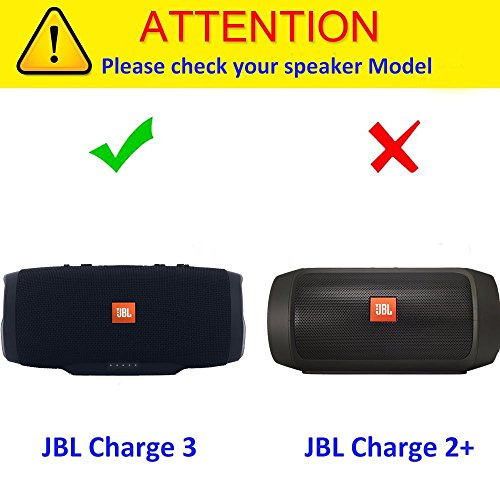Khanka EVA Hard Case Travel Carrying Storage Bag for JBL Charge 3  Waterproof Portable Wireless Bluetooth Speaker  Extra Room For Charger and  USB Cable